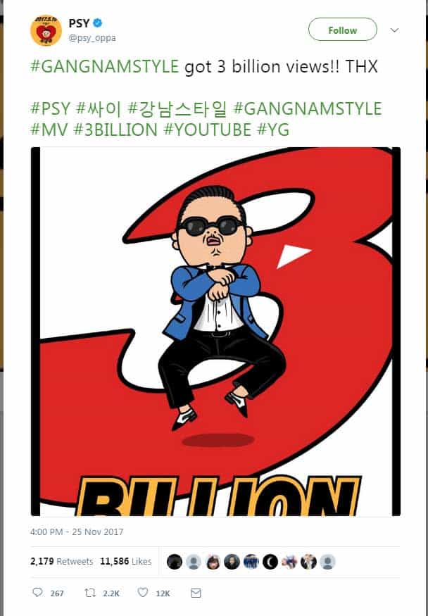 #GANGNAMSTYLE-got-3-billion-views!!