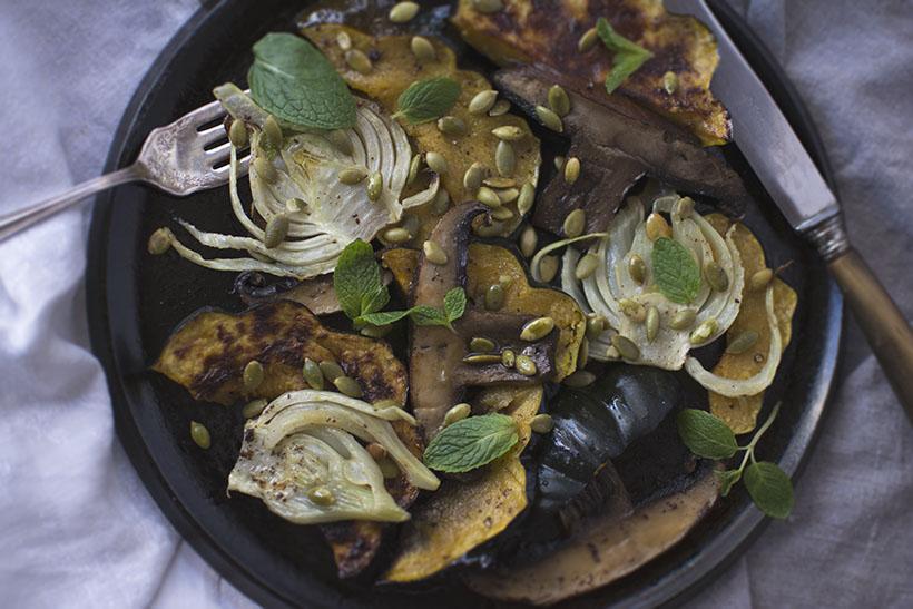 Acorn Squash Salad Close-Up