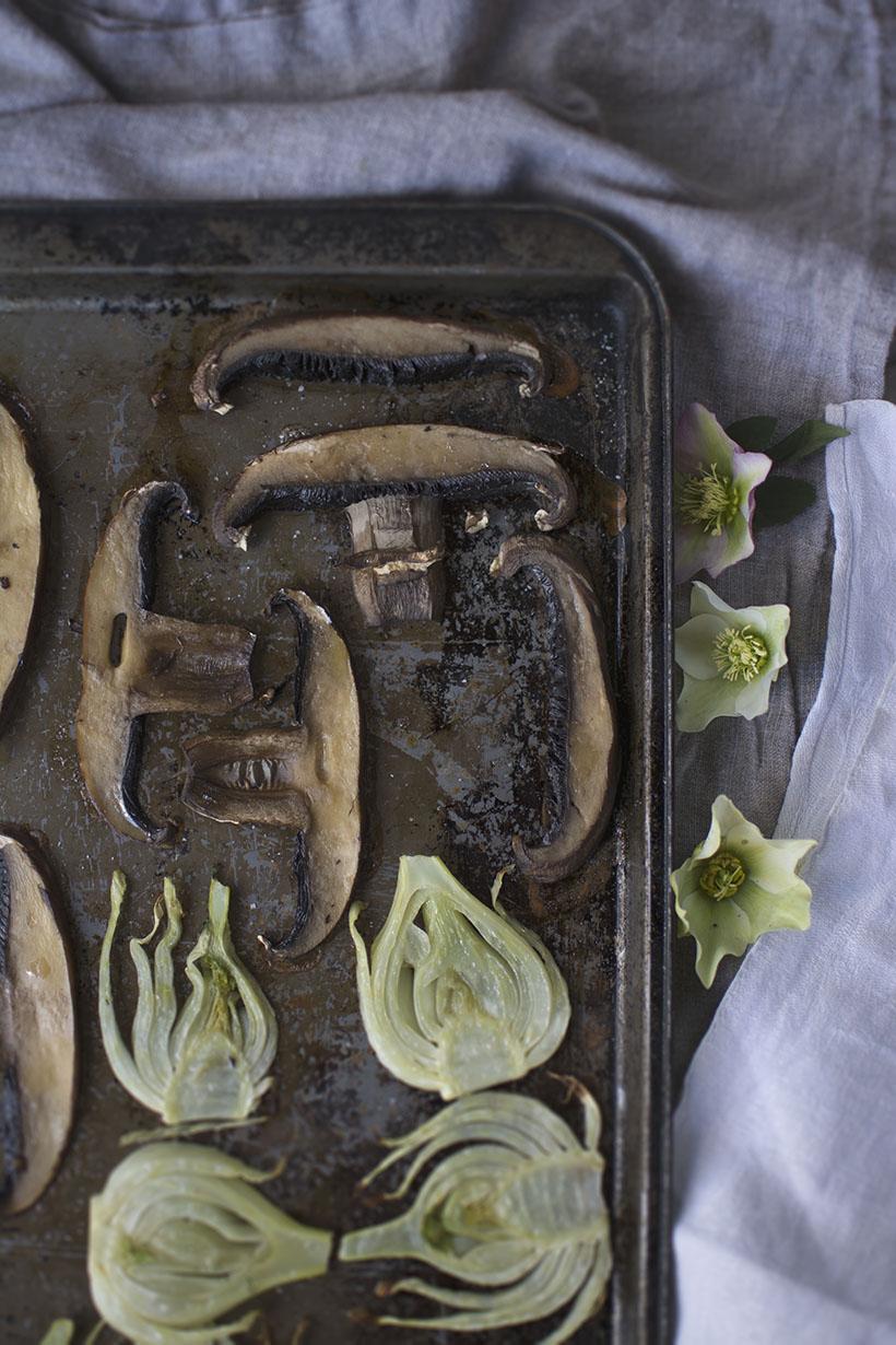 Mushrooms Roasting