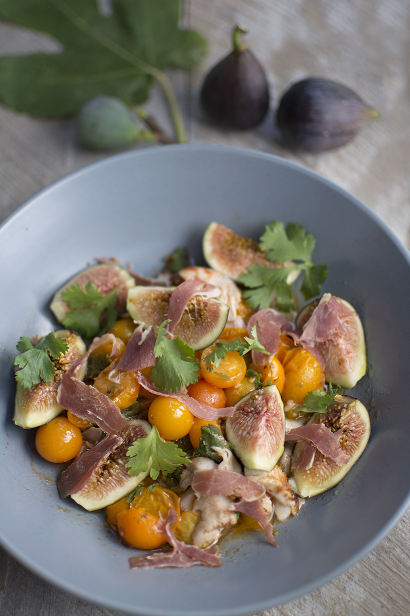 Figs & Proscuitto on Remoulade Fish