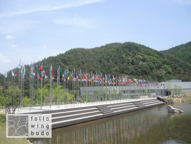 Die Flaggen aller 206 Mitgliedsnationen der World Taekwondo Federation