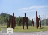 11 Skulpturen für 5 Ozeane und 6 Kontinente