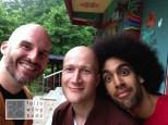 Mit Toni (Mitte) und Simon (rechts)