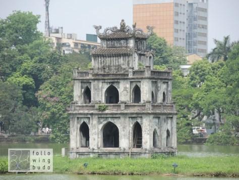 Der Schildkrötepavillon. Das Wahrzeichen der Stadt.