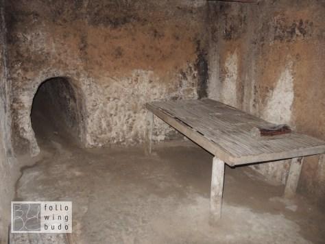 Dieser vergleichsweise komfortable Raum war Quartier eines Hauptmanns