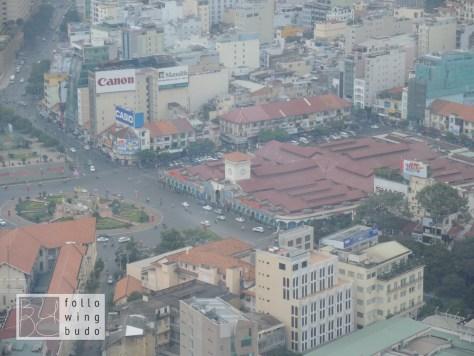 Ben Than Markt von der Aussichtsplattform des Bitexco Towers aus gesehen