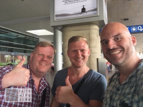 Gut gelandet und am gleichen Tag zurück nach Bangkok: das Team von mcmeyersworld.de