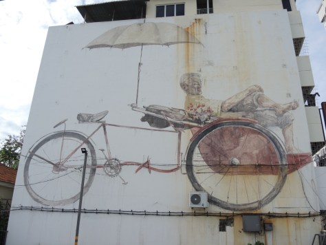 'The Awaiting Tishaw Pedaler' von Ernest Zacharevic