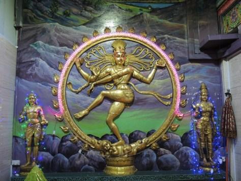 Disco Shiva. Sie blinkte in allen erdenklichen Farben.