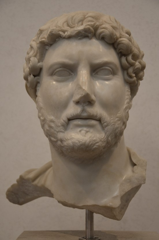Fragmentary bust of Hadrian, from the area of Santa Bibiana at Termini station, ca. 117-120, Palazzo Massimo alle Terme, Rome