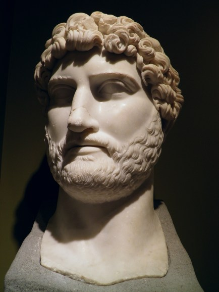 The head of the colossal marble statue of Hadrian found at the Sagalassos Roman Baths complex in 2007, Burdur Museum