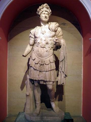 Statue of Hadrian wearing the Corona Civica (Chiaramonti 392 type), from the North Nymphaeum at Perga, Antalya Museum