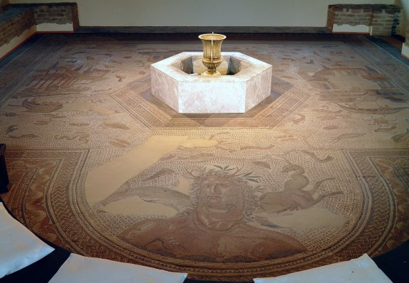 The Oceanus mosaic, 3rd century AD, Römerhalle, Bad Kreuznach © Carole Raddato