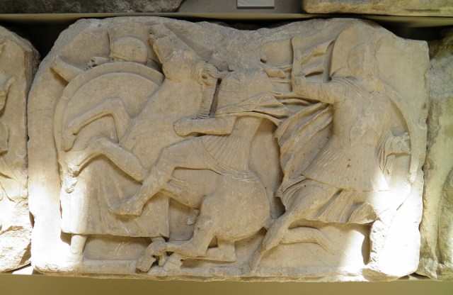 Greater podium frieze from the Nereid Monument of Xanthos showing heroic battle scenes, British Museum, London © Carole Raddato