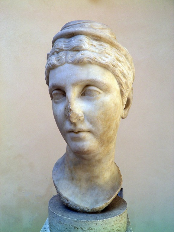 Faustina the Elder (wife of Antoninus Pius), from the lime of the Baths of the Cisiarii, 2nd century AD, Ostia Antica, Italy Carole Raddato