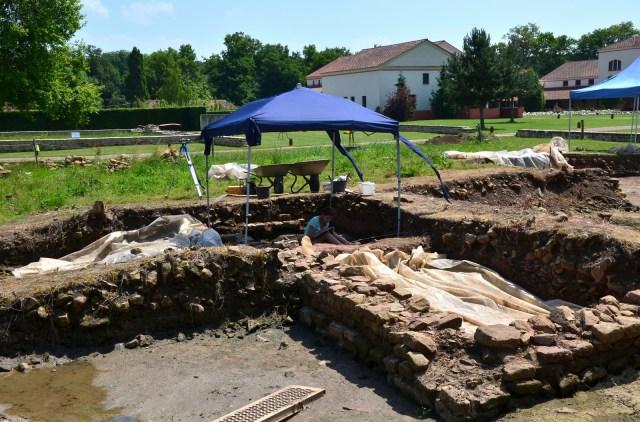 Excavation work at the Villa Borg © Carole Raddato