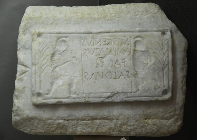 Mold with image of Gladiators, from Salona, Split Archaeological Museum © Carole Raddato
