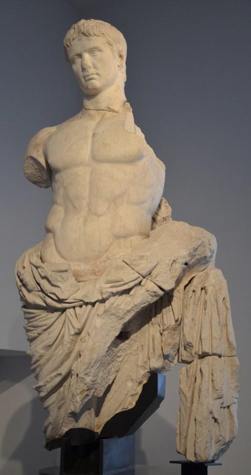 Marble statue of Augustus, found in the Roman theatre in 1750 Arles, Musée de l'Arles et de la Provence antiques © Carole Raddato