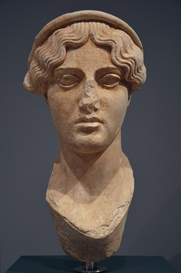 Bust of a diademed goddess, found at Hadrian's Villa Palazzo Massimo alle Terme, Rome © Carole Raddato