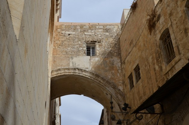 The Ecce Homo arch, a triple-arched gateway, built by Hadrian, as an entrance to the eastern Forum of Aelia Capitolina © Carole Raddato