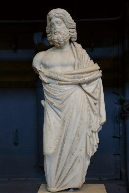Statuette of Asklepios, small-scale copy after a 5th century BC original attributed to Phidias or Alkamenes, from the Via S. Maria dei Monti Centrale Montemartini, Rome