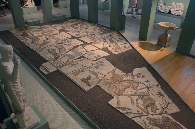 Mosaic with hunting scenes, from the Horti Liciniani, early 4th century AD Centrale Montemartini, Rome