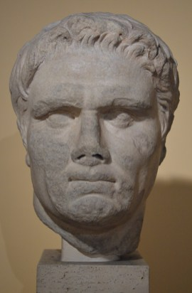 Portrait of a political personality, this portrait can be indenfied as Mark Antony, from the oration area of the Roman Forum
