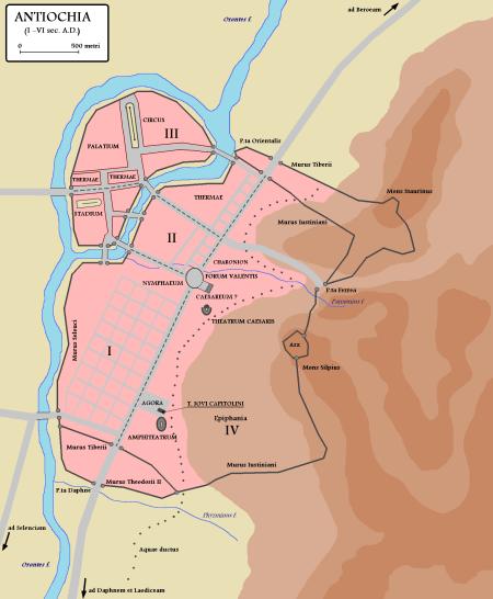 Map of Antiochia — capital of Syria Author: Cristiano64 (Wikipedia)