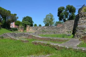 The Hadrianic amphitheatre of Ariminum, Rimini, Italy