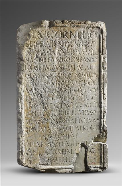 Inscription in honour of Sextus Cornelius Dexter, prefect of the Syrian fleet, (CIL VIII 8934)