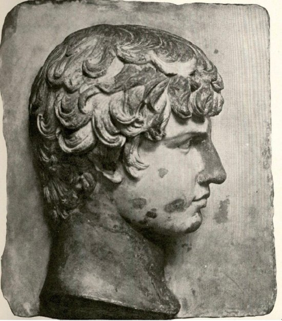 "Image from Frank B. Tarbell, ""A Marble Head of Antinous belonging to Mr. Charles L. Hutchinson of Chicago,"" Art in America 2 (1913–14), p. 69"