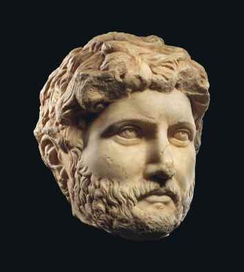 A MONUMENTAL ROMAN MARBLE HEAD OF THE EMPEROR HADRIAN Christie's - 6 July 2016, London, King Street http://www.christies.com/lotfinder/Lot/a-monumental-roman-marble-head-of-the-6009406-details.aspx