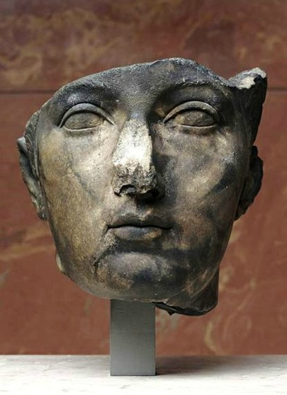 Burnt head of Sabina found in the harbor of Toulon (France), c. 120 AD, Louvre Museum