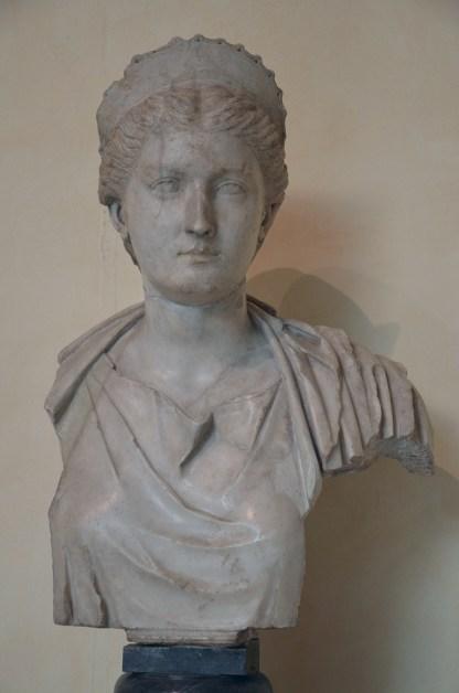Portrait of Sabina (as Artemis?), wife of Hadrian, AD 130-140, from Rome, Musei Capitolini, Rome