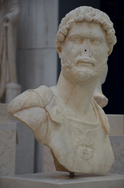 Bust of Hadrian, 130 AD, National Archaeological Museum of Spain, Madrid