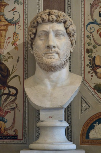 Colossal portrait of Hadrian, Luni Marble, 140 AD (posthumous), Galleria Borghese, Rome