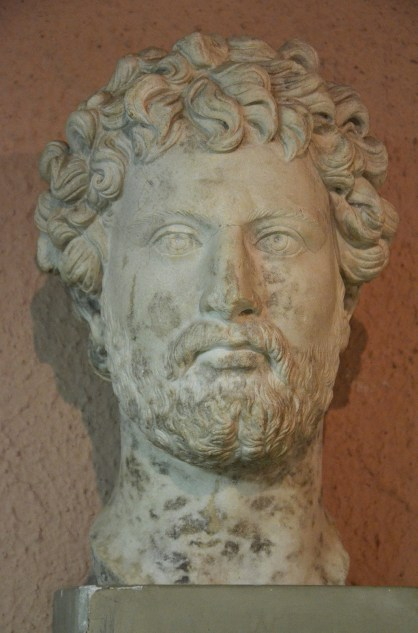 Marble head of Hadrian from Apollonia, Archaeological Museum of Tirana, Albania