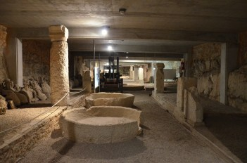 Exhibition of viticulture and olive growing, Pula Arena underground passages © Carole Raddato