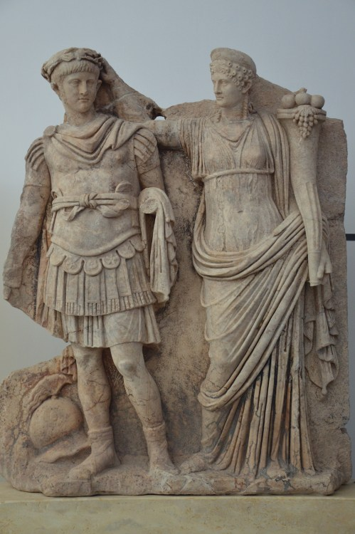 Relief from the Sebasteion depicting Nero and Agrippina (Aphrodisias Museum).
