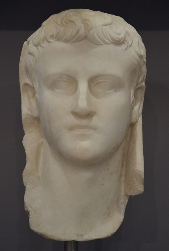 Portrait of emperor Caligula.