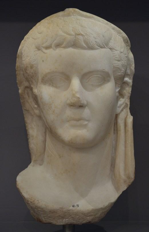 Portrait of emperor Tiberius.