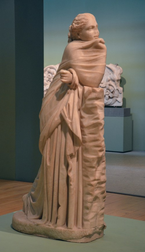 Statue of a Muse (Polyhymnia?), Found in via Terni inside an ancient underground passage in the area of the Horti Variani, 2nd century BC.