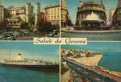 Postcard Genova