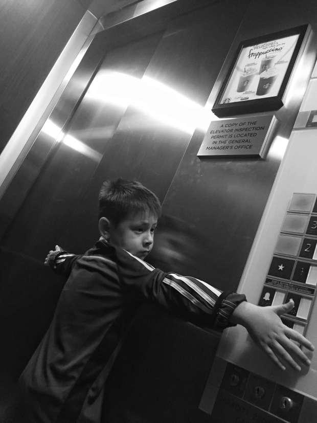 morning elevator.