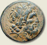 Coin with image of Antiochus IV Epiphanes