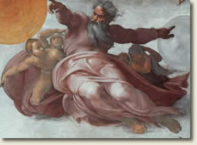 God the creator by Michelangelo