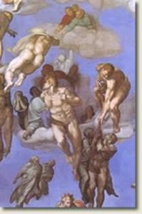 "Resurrection of the dead from Michelangelo's ""Last Judgment"""