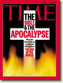 "Time Magazine cover of ""The Bible and the Apocalypse"""