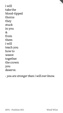 You are stronger than I will ever know