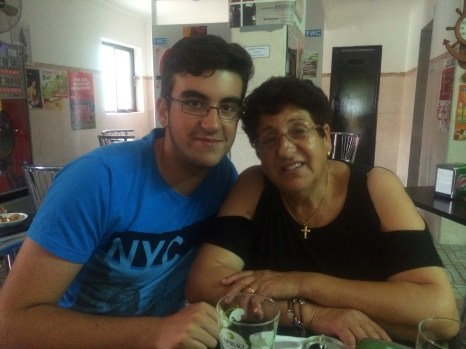 The lovely Maria and her grandson Tiego